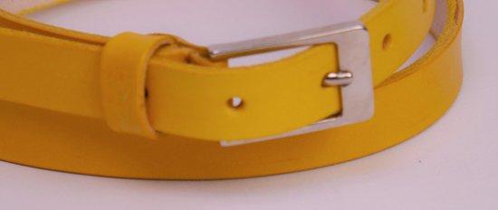 dames riem geel 2 cm leer