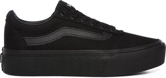 Vans Ward Platform Dames Sneakers – (Canvas) Black/Black – Maat 40