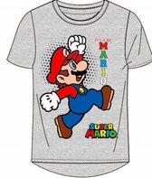 Super Mario t-shirt - grijs - Maat 116 / 6 jaar