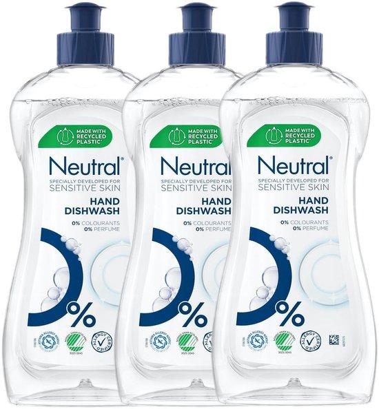 Neutral Afwasmiddel Parfumvrij - Voordeelverpakking 3 x 500 ml