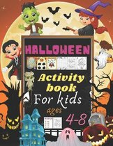 Halloween Activity Book for Kids Age 4-8