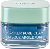 L'Oréal Paris Anti Imperfecties Pure Clay Gezichtsmasker - 50 ml - Verminderd mee-eters