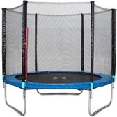 Trampoline met Veiligheidsnet en Ladder - Blauw - 244 cm