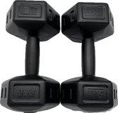 2x Dumbells - 5 kg - Dumbells Set - Zwart - Gewichten - Gewichten Set -  Gewichten 5 Kg - Gewichten Fitness - Dumbells 5 Kg