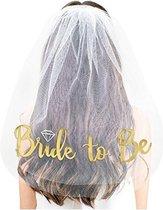 Bride to be sluier  - Bruidsluier- Bachelorette party - Bruidsluier - Versiering - Decoratie - Bruiloft - 55 cm - vrijgezellenfeest - bruidssluier -feest -bruiloft