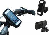 Fiets/Motor/Scooter houder voor smartphones (universeel maat M), Waterdichte Fietshouder Schokbestendig, passende maten: lengte +/- 100-126mm, breedte +/- 40-61mm voor o.a. Iphone 5 / 5s / 5c, 4 / 4s