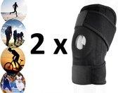 2 stuks - i12Cover Knie Brace Patella  - Premium Kniestrap sport, elastisch