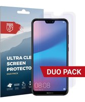 Rosso Huawei P20 Lite Ultra Clear Screen Protector Duo Pack