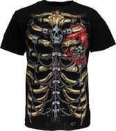 Skelet Borstkas T-Shirt Glow in the Dark