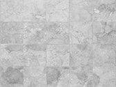 Vinyl vloervinyl |Rough marble  grey, Grijze tegels | 90x120cm