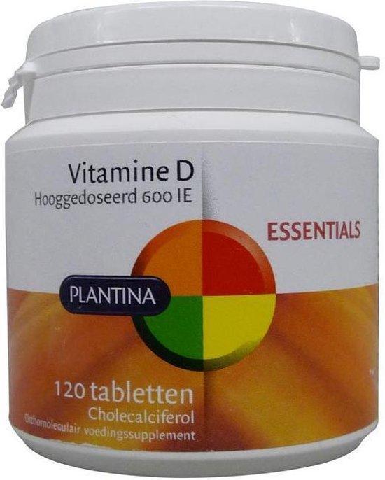 Bol Com Plantina Vitamine D 600 Ie 120 Tabletten