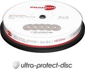 Primeon 2761311 50GB BD-R DL Lees/schrijf blu-ray disc