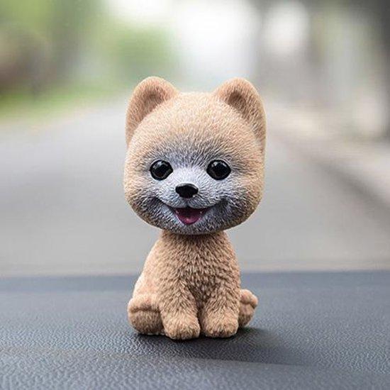 Hoogwaardige Hoofd Schudden Hond Auto Ornamenten Harsen Mooie Pommeren Cartoon Hond Nieuwjaar Geschenken met Dubbelzijdig Plakband