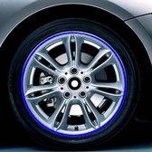 Kleur 17 inch wielnaaf reflecterende sticker voor luxe auto (blauw)