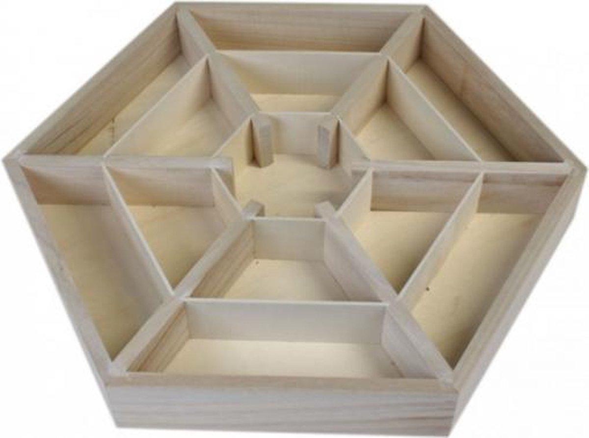 Mandala display voor mineralen - 35x30.5x4 - Hout - M - Yogi & Yogini