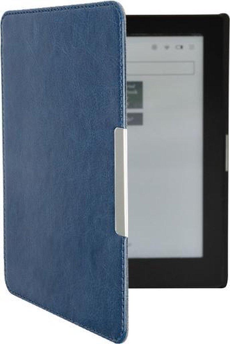 Lunso - sleepcover flip hoes - Kobo Aura edition 1 (6 inch) - Blauw