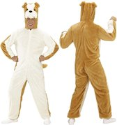 Hond & Dalmatier Kostuum | Dieren Onesie Pluche Bulldog Kostuum | Medium / Large | Carnaval kostuum | Verkleedkleding