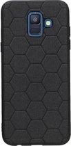 Wicked Narwal | Hexagon Hard Case voor Samsung Samsung Galaxy A6 2018 Zwart