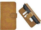 Pearlycase Hoes Wallet Book Case Bruin voor Huawei P20 Lite (2019)