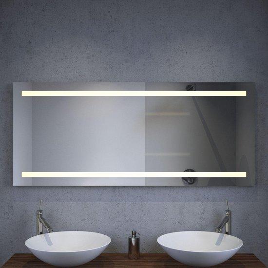 Bol Com Verwarmde Badkamer Spiegel Met Praktische Led Verlichting En Sensor 140 Cm Breed