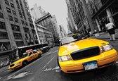 Fotobehang New York City Yellow Cabs | XXXL - 416cm x 254cm | 130g/m2 Vlies