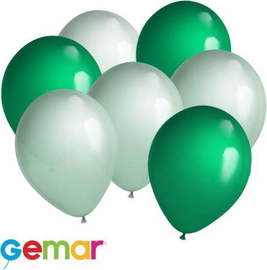 30 ballonnen Mintgroen en Groen (Ook geschikt voor Helium)