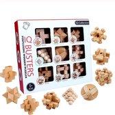 IQ Puzzel 3D - Hout - 9 Verschillende hersenkrakers