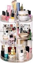 AWEMOZ® Beauty Make-Up Organizer - 360° Roterend - Opbergbox - Opbergdoos Cosmetica - Sieradendoos - Nagellak - Lippenstift - Transparant