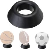 Kleine ballenstandaard/ voetbalhouder zwart