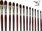 MusBrush Serie 101 - 13 delig - kattentong, lange steel