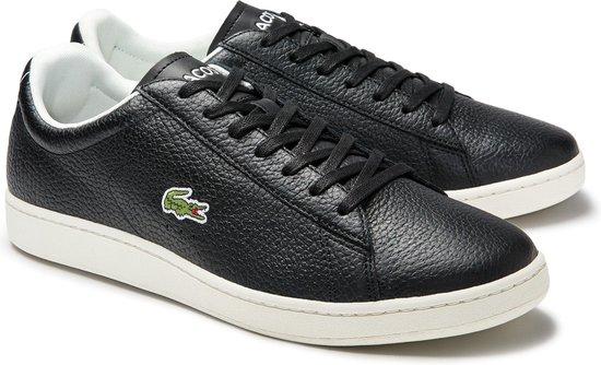 Lacoste Sneakers - Maat 42.5 - Mannen - zwart,creme