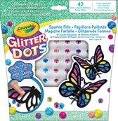 Crayola Glitter Dots - Mozaïeken Vlinders