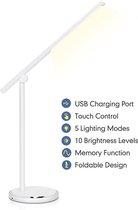 Aigostar Vince - LED  Bureaulamp - Dimbaar - 8W - Wit