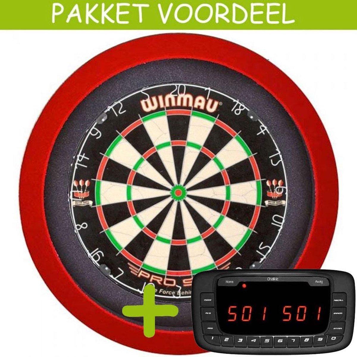Elektronisch Dart Scorebord VoordeelPakket (Chalkie ) - Pro SFB - Dartbordverlichting Basic (Rood)