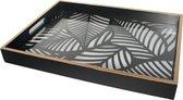 Tría Dienblad Jungle- Rechthoek Decoratie Vierkant Dienbladen- Hout Zwart Goud- 43*31CM