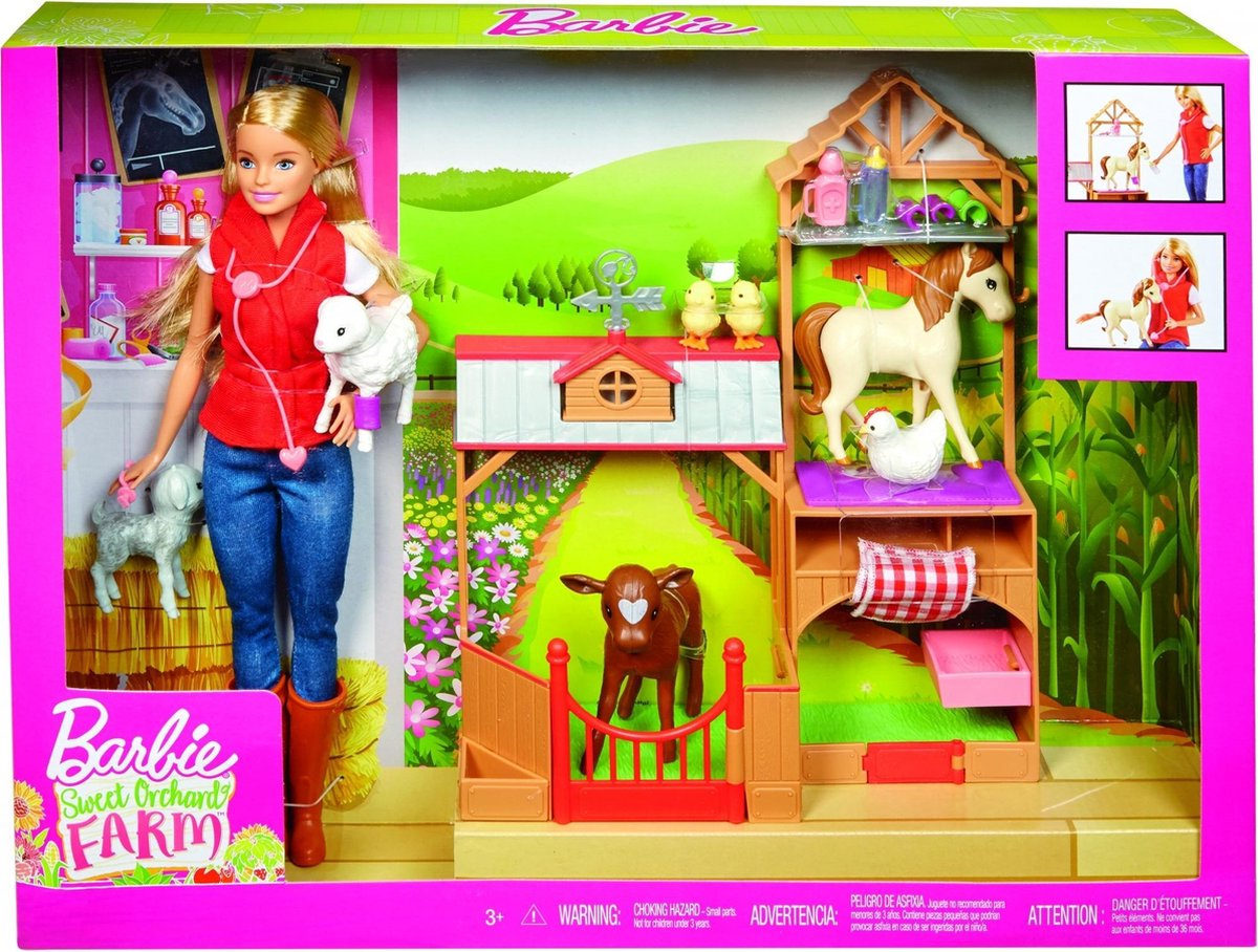 Barbie Boerderij pop met dieren