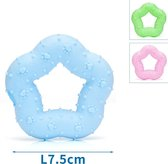 Nobleza Hondenspeelgoed - Ster - 7.5CM 32g - Blauw, Groen, Roze - 12 stuks