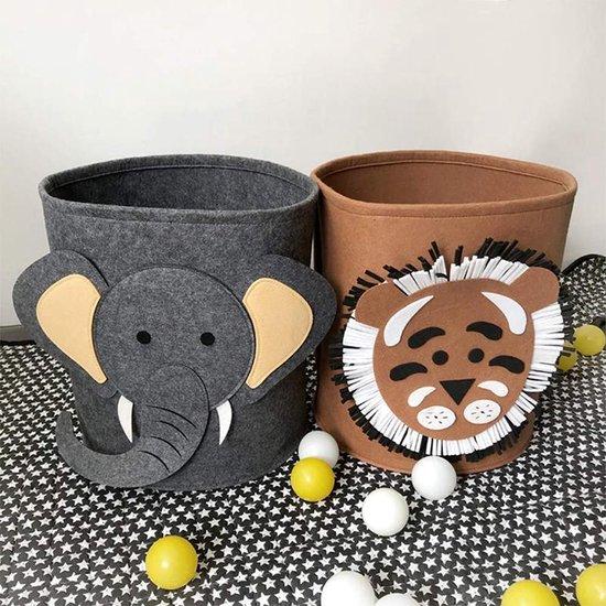 Speelgoedmand kinderen – Opbergmand Kinderkamer Wasmand – Kind Opbergzak speelgoed – Speelgoedkist decoratie - 55 Liter - Olifant