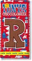 Tony's Chocolonely Melkchocolade Letterreep R 180 Gram