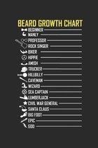 Beard Growth Chart: Lustiger Schnurrbart Notizbuch liniert DIN A5 - 120 Seiten f�r Notizen, Zeichnungen, Formeln - Organizer Schreibheft P