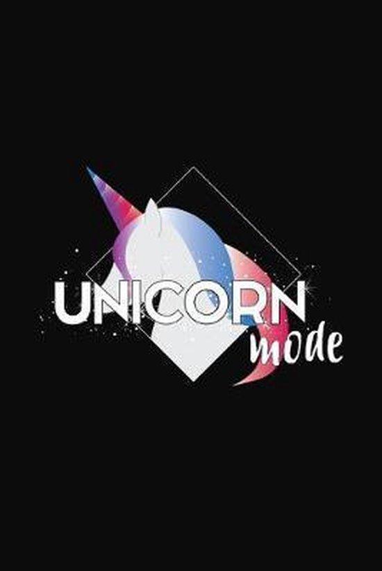 Unicorn Mode: Unicorn Notebook 6x9 Blank Lined Journal Gift