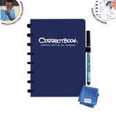 Whiteboard notitieblok / schrift - Correctbook - A5 - Gelijnd - Blauw
