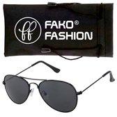 Fako Fashion® - Pilotenbril - Aviator Zonnebril - Zwart