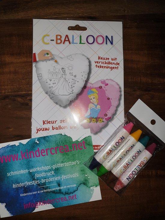 versier je eigen ballon prinses