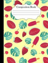 Composition Notebook: Cute Doodle Bikes Notebook 8.5 x 11 inches college ruled 120 pages for teachers, girls, school, women