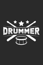 Drummer: 6x9 - dotgrid - dot grid paper - notebook - notes