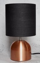Koperen metalen schemerlamp - Tafellamp - Bureaulamp - Brons - E14 kleine fitting
