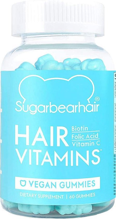 Sugar Bear Hair Vitamins Voedingssupplement - 60 gummies