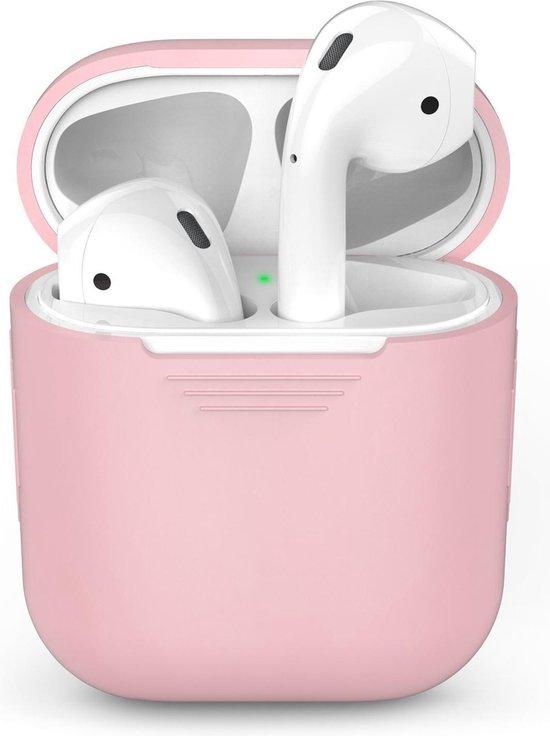 Afbeelding van Siliconen Beschermhoes voor Apple AirPods Case - Licht Roze