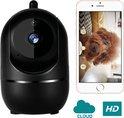Beveiligingscamera - Huisdiercamera - Beweeg en Geluidsdetectie - Zwart - WiFi